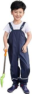 Riou Salopette Antipioggia,Unisex,per Bambini,Antivento, Impermeabili,Traspiranti Pantaloni Impermeabili Pioggia Bambino T...