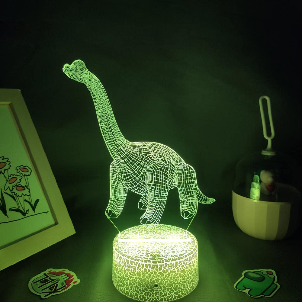Beautiful Gift for boy 3D LED RGB Animal Lights Night Lamps New Regular store popularity Neon