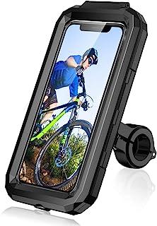 LUROON Soporte Móvil Bicicleta Moto Impermeable Universal Pantalla Táctil Sensible 360°Rotación Anti Vibración Soportes pa...
