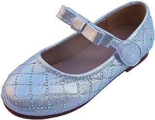 Zapatos de Princesa para niños cómodos Informales Bajos con Punta Redonda Zapatos Planos de Cuero Zapatos de Baile para ni...