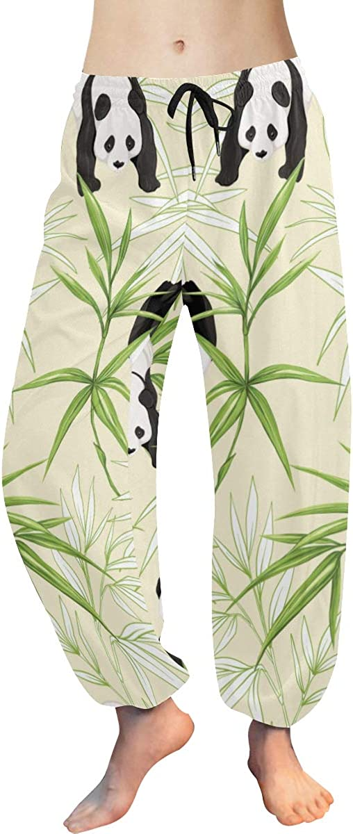 Patterned low-pricing Harem Pants Giant Panda Bamboo Fashion Green Yoga with Bombing free shipping