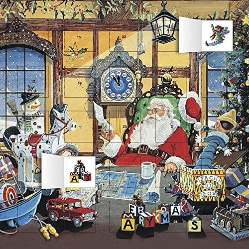 Calendrier de l'Avent – Noël – PERE NOEL LETTRE- lutin – FORMAT 30X30cm + offert un agenda de poche 2019
