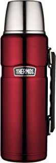 THERMOS Stainless King SK2010 Vacuum-Insulated Beverage Bottle, 40 Ounce, Cranberry