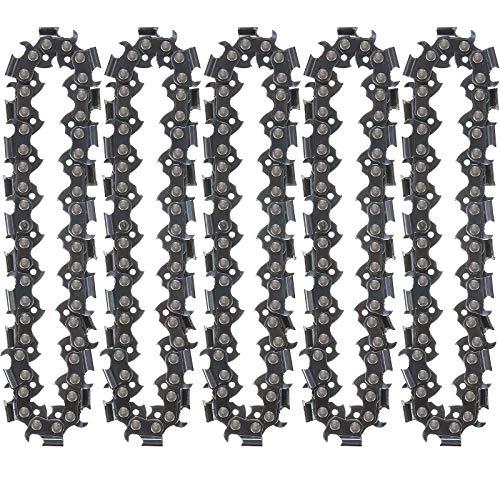 5 Stücke Ersatz Circlets für Ketten Scheibe Ersatz Kette mit 22 Zähn in 4 Zoll Holz Schnitzerei Ketten Schleifer Kette Kettensäge Schleif Scheibe Kette für Kettensägen Rad Schneid Formen