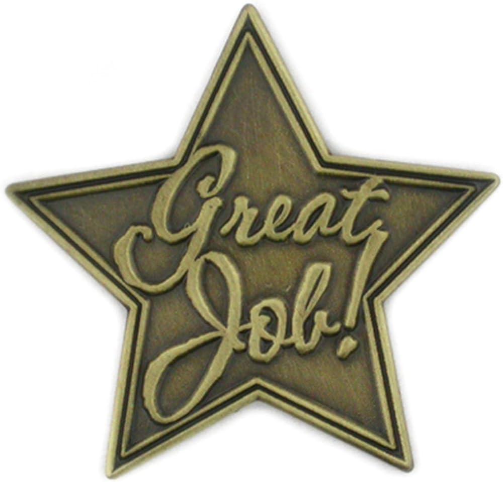 PinMart Great Job Corporate Service Bronze Star Lapel Pin