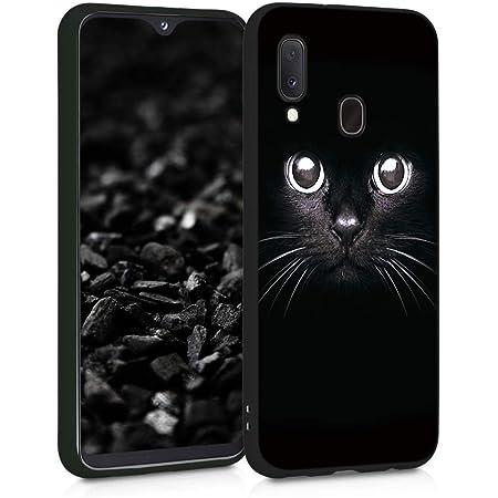 ZhuoFan Coque Samsung Galaxy A20e, Etui en Silicone Noir avec Motif 3D Fun Fantaisie Dessin Antichoc Souple TPU Housse de Protection Case Cover Bumper ...