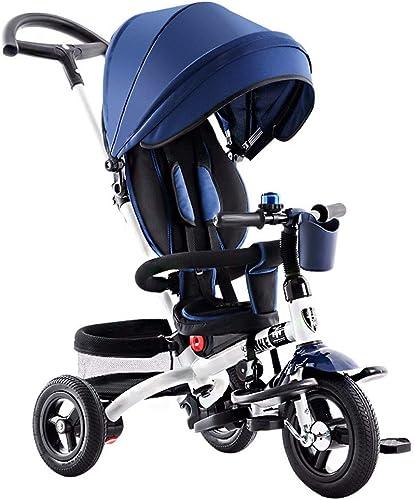 GSDZSY - 4 IN 1 Kinder Dreirad, 120 ° Verstellbarer Sitz, Baby Kann Sitzen Oder Zurücklehnen, Sitz Ist Bequem Und Einfach Zu Bedienen, 1-6 Jahre Alt