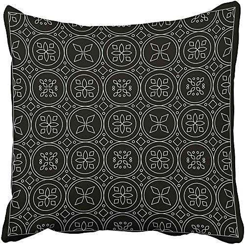 SSHELEY Kissenbezüge Cases Floral und Bandana mit Fliesen marokkanischen Stil für Teppich für Seide Halstuch Kopftuch Kissenbezüge Case Cover Cushion