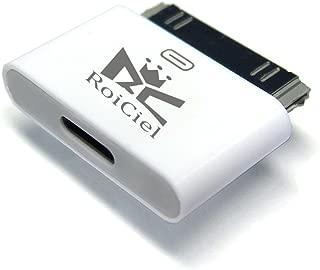 RoiCiel ロイシエル[Lightning 変換コネクタ ] Lightning(メス)-iDock(オス)iPhoneX/8/7/6/5からiphone4へ変換コネクタ 充電器 充電アダプター 8pin Lightning DOCK iphoneX /iphone8 /iphone7 /iphone6 /iphone5iPad mini iPod Lightning 30ピンアダプタ iphone4s/4
