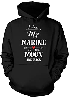I Love My Marine To The Moon And Back Cool Gift - Hoodie