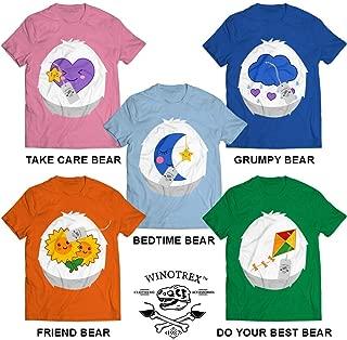 Bears Heart Family Star Cute Matching Family Friend Kids Baby Group Outfit Costume Customized Handmade T-Shirt Hoodie/Long Sleeve/Tank Top/Sweatshirt