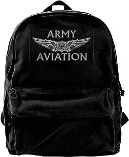 Mochila de lona del ejército estadounidense de aviación con ala de la tripulación de aviación mochila de gimnasio senderis...