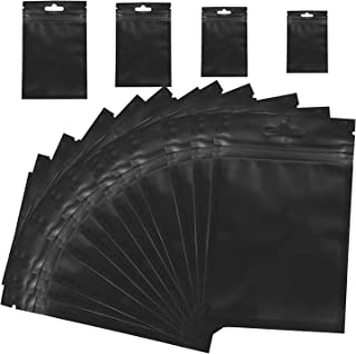 100 Pack Mylar Bags For Food Self Sealing Storage Supplies, 3x5 In Black Smell Proof Bags, Resealable Bags, Packaging Bags, Lip Gloss Packaging Bags For Daily Life Storage Supplies …