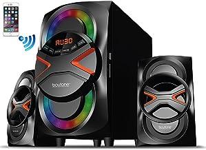 Boytone BT-326F, 2.1 Bluetooth Powerful Home Theater Speaker System, with FM Radio, SD USB Ports, Digital Playback, 40 Wat...