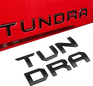 Seven Sparta 3D Raised Tailgate Letters for Toyota Tundra 2014-2019 Zinc Alloy Emblem Inserts (Black)