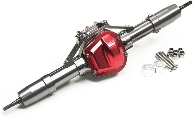 Xunjiajie 1 Stück Aluminiumlegierung Hinterachse Rear Axle For 1 10 Rc Crawler Auto Axial Scx10 Spielzeug