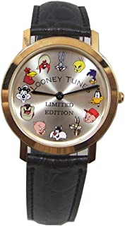 Looney Tunes Pedre Watch 12 Warner Bros. Characters 18K Gold plate LE
