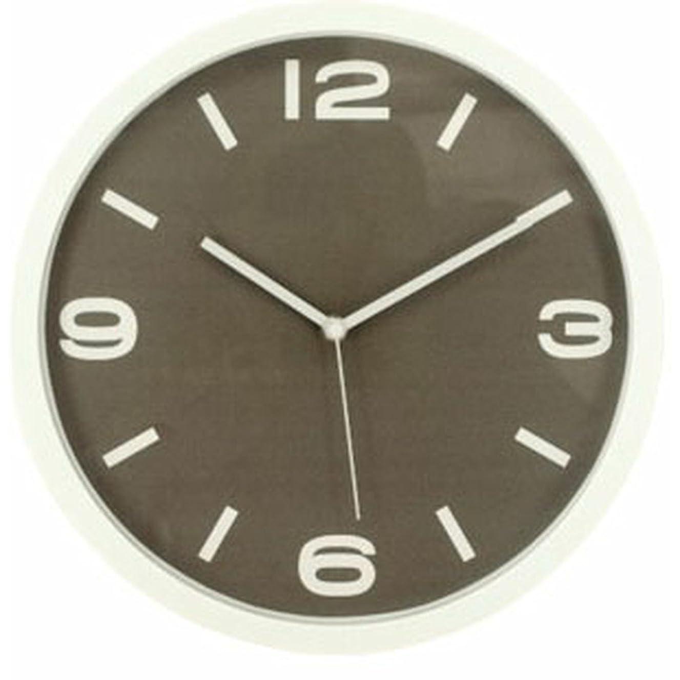 市民キネマティクスそこからアイリスプラザ デザイン 掛け時計 ブラウン 30cm OTI-10