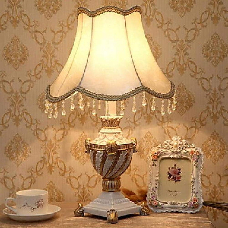 Traditionelle klassische neue design tischlampe für schlafzimmer arbeitszimmer büro harz 220 v