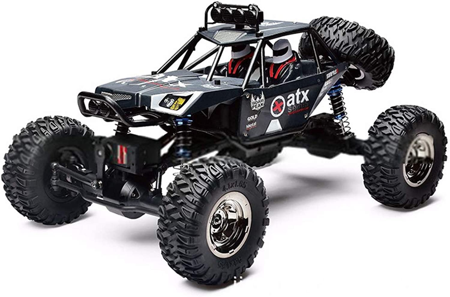 RC Car, 1 10 4WD Electric Remote Control Toy Cars Radio Controlled 4x4 Drive Off-Road Toys for Boys Kids