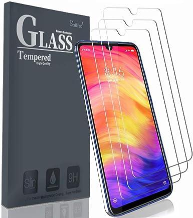 Ferilinso Protector de Pantalla para Xiaomi Redmi Note 7 Pro/Redmi Note 7,[3 Pack] Protector de Cristal Templado de Película Protectora con Garantía de Reemplazo de por Vida