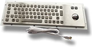 Standard 65 keys stainless keyboard - with trackball - USB interface - US layout