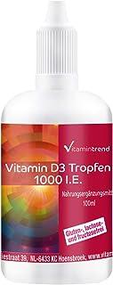 Vitamin D3 líquida 1000 U.I. - 100ml – Alta dosificación - colecalciferol