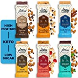 Atlas Bar - Keto Protein Bars, Sample Pack - High Protein, Low Sugar, Low Carb, Grass Fed Whey, Healthy Protein, Gluten Free, Soy Free (6-Pack)