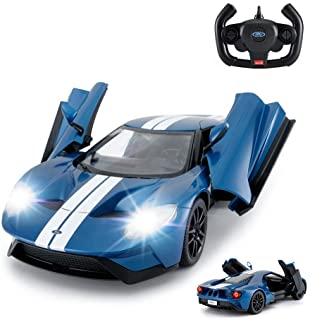 RASTAR RC Car | 1/14 Ford GT Remote Control RC Race Toy Car for Kids, Open Doors by Manual, Blue Racing rc car 12.6 x 5.9 ...