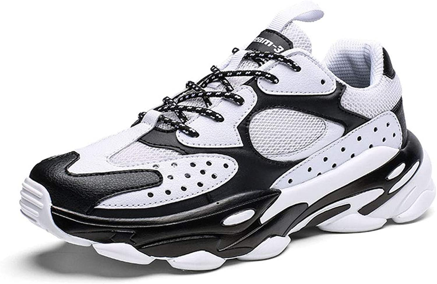 MEMIND Men Sports shoes Increase Wear Resistant Old shoes Breathable Leisure Running shoes Personality Wild Tide shoes Street Dance Basketball shoes