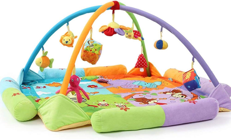 AIBAB Babyspielmatte Baby-Krabbeldecke Baby Musik Spielzeug Tragbare Bodenmatte Abnehmbar FeuchtigkeitsBestendig Weich B