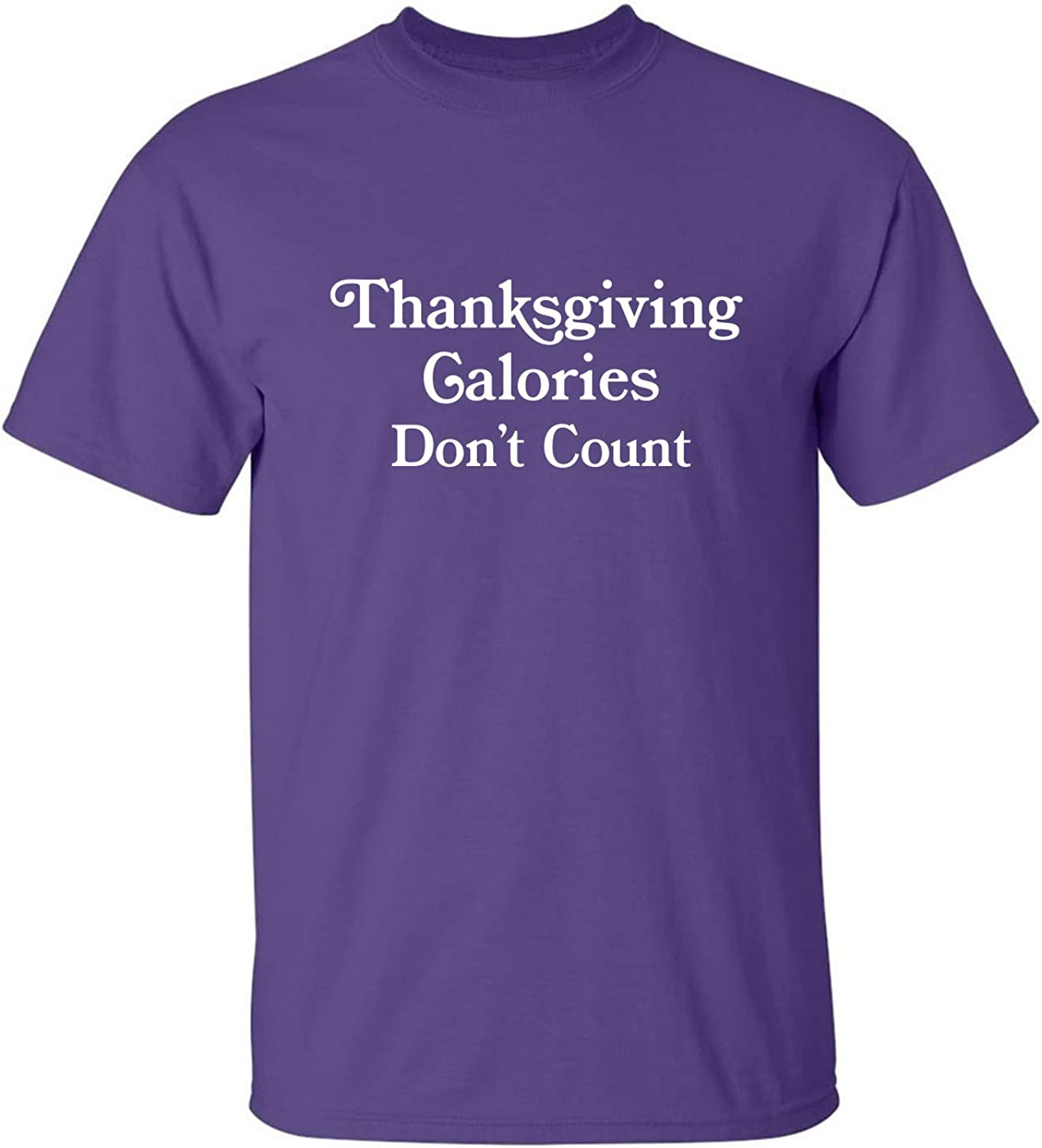 Thanksgiving Calories Don't Count Adult T-Shirt in Purple - XXXXX-Large