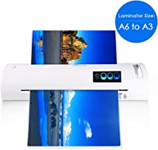13 inch Laminator Machine, A3/A4/A6 Laminator, Thermal Laminator with Jam-Release Switch, Fast Warm-up and Quick Laminating Speed for Home, Office and School (A3 laminator-White)