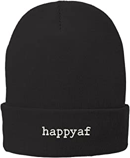 Happyaf Embroidered Super Stretch Winter Cuff Long Beanie
