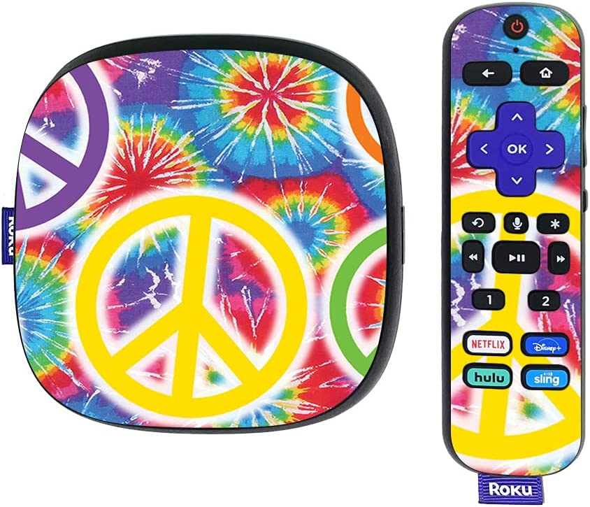 MightySkins Skin Compatible with Roku Ultra HDR 4K Streaming Media Player (2020) - Peaceful Explosion   Protective, Durable, and Unique Vinyl Decal wrap Cover   Easy to Apply   Made in The USA