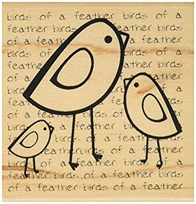 "Mounted Rubber Stamp 2.5""X2.5""-Birds Of A Feather from Donier98"