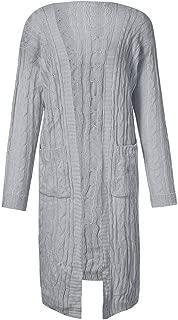 Hopeg Women's Open Front Winter Long Sleeve Casual Loose Knit Sweater Jumper Coat Top