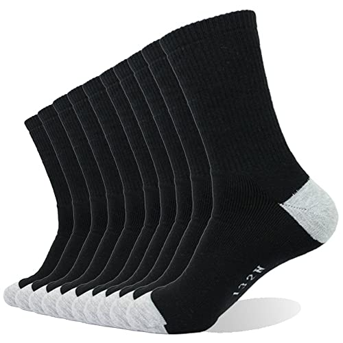 huge discount c6d0a d71d9 Enerwear 10P Pack Men s Cotton Moisture Wicking Extra Heavy Cushion Crew  Socks