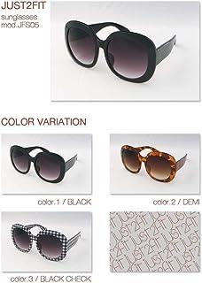 【眼鏡ケース&眼鏡拭きセット】レディース サングラス  クラシック ビッグシェイプ