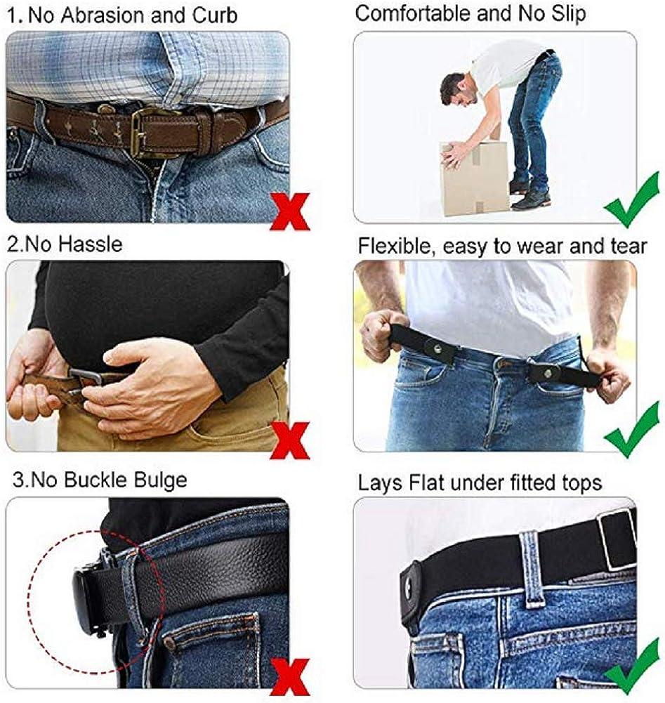 WEIHUIMEI Cinture in vita Elastico senza fibbia Cintura uomo e donna No Show Cintura regolabile Comoda cintura invisibile per unisex