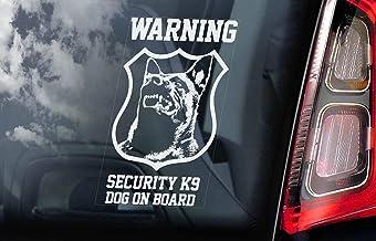 Veiligheid K9 Hond aan boord Auto Decal Venster Sticker Vinyl Decal Belgische Malinois Mechelse Herder Beveiliging K9 Teke...