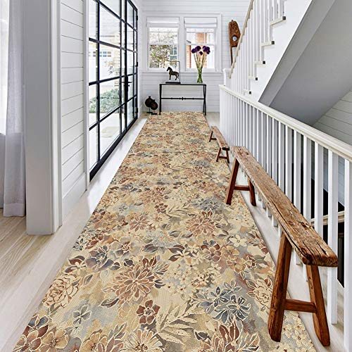 HLMIN Hallway Runner Rug,Non Slip Durable Runner Soft Hallway Rug For Stairs Living Room Entrance Door Kitchen,3D Printed Carpet (Color : A, Size : 0.9x3m)