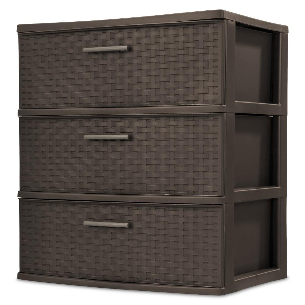 3 Drawer Wide Weave Tower Espresso