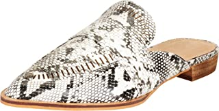 Cambridge Select Women's Pointed Toe Lasercut Perforated Slip-On Low Heel Mule Loafer