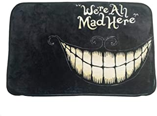 We're all mad here alice in wonderland cheshire cat smile 58 x39 cm V2 doormat