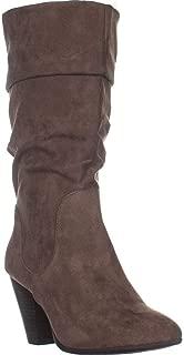 ESPRIT Oliana Folded Top Block Heel Mid Calf Boots, Taupe