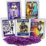 Lamar Jackson Football Card Bundle, Set of 5 Assorted Baltimore Ravens and Louisville Cardinals Mint Football Cards Gift Set of Heisman MVP Quarterback Lamar Jackson, Protected by Sleeve and Toploader