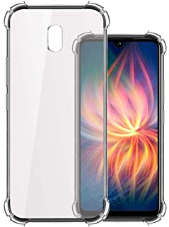 Silicon Flexible Shockproof Corner TPU Back Case Cover for Xiaomi Mi Redmi 8A -Transparent by Nice.Store.UAE