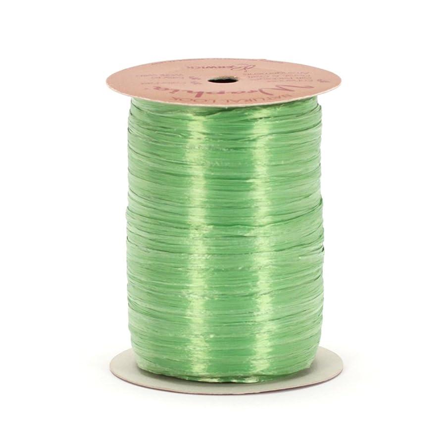 Berwick Offray Green Celadon Raffia Ribbon, 1/4'' Wide, 100 Yards