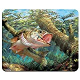 Fishing Bass Mouth Rectangle Non-Slip Rubber Gaming Mouse Pad, Mouse Mat, Mousepad MP4122